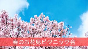 春のお花見ピクニック会