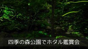 四季の森公園でホタル鑑賞会
