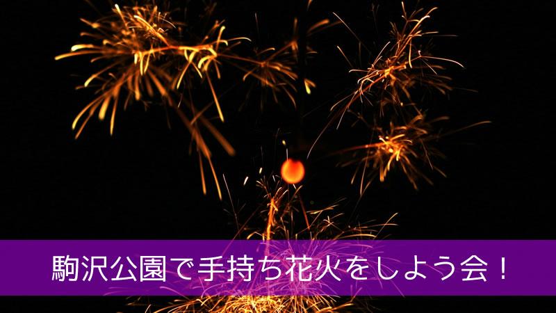 駒沢公園で手持ち花火をしよう会!