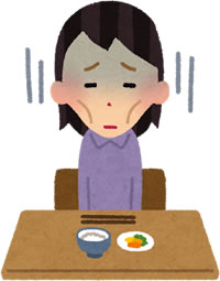 拒食症の女性