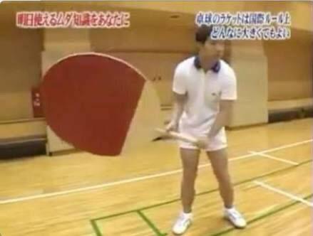 卓球のラケットはどんなに大きくてもよい
