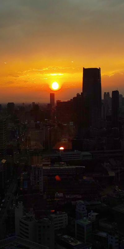 東京タワーからの夕日