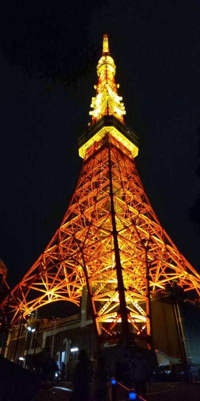 帰り際の東京タワー