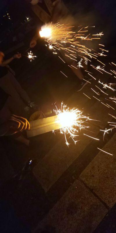 駒沢公園で花火